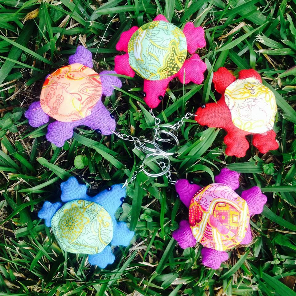 Turtle Key Rings 5 Pack