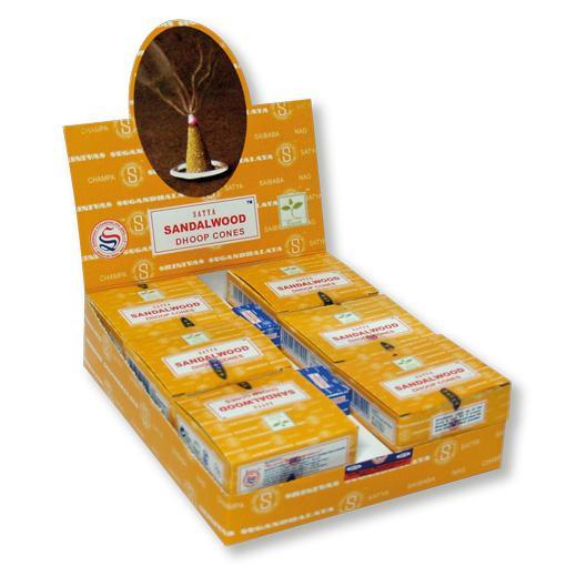 Satya Sandalwood Cones 12 x 10 Cones