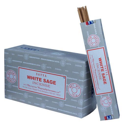Satya White Sage 12 x 15 gram - Elanora Australia