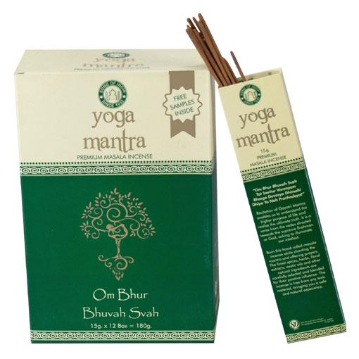 Yoga Mantra Masala Incense 12 x 15 gram