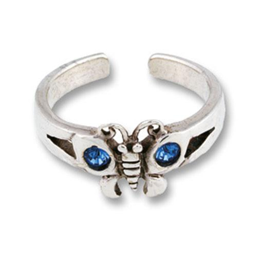 Jewelled Butterfly Toe Ring