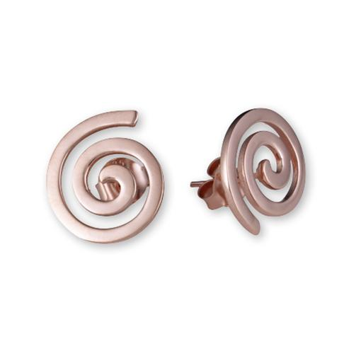 Koru Ear Studs - Rose Gold Plated - 1 Pair