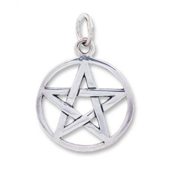 Sterling silver pentagram pendant aloadofball Choice Image