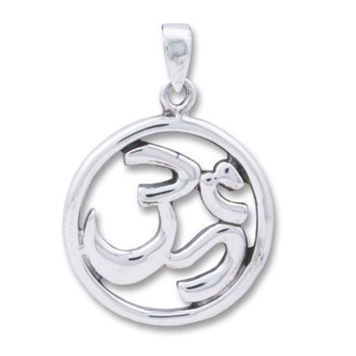 Sterling Silver Plain Om Pendant