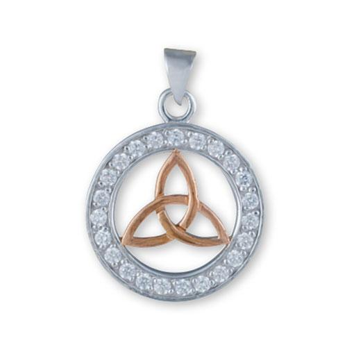Triquetra Pendant-Rose Gold Plated