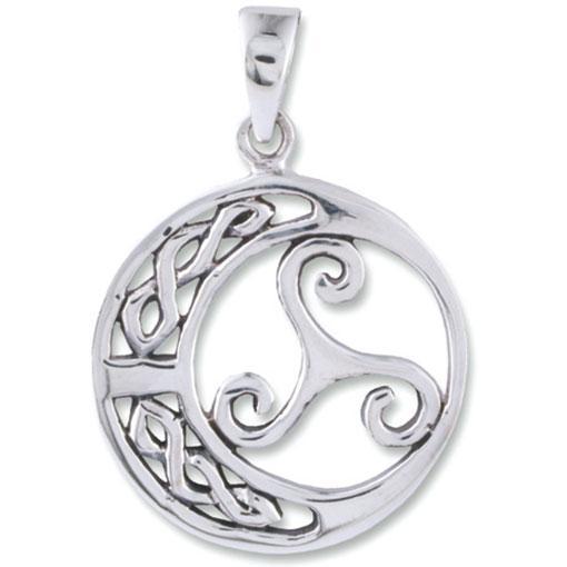 Sterling Silver Triskelion Pendant