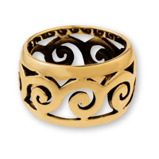 Gypsy Gold Swirls Ring