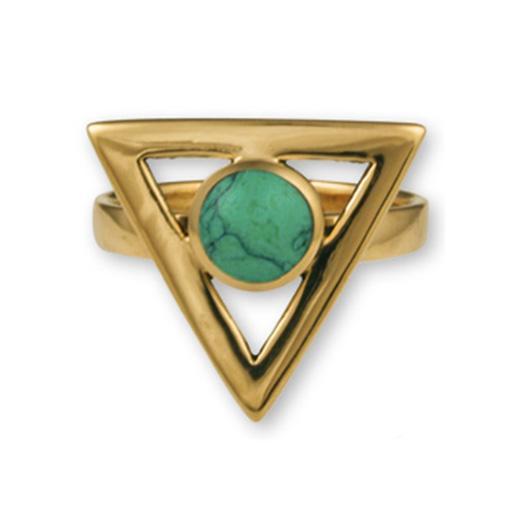 Gypsy Gold Triangle Ring