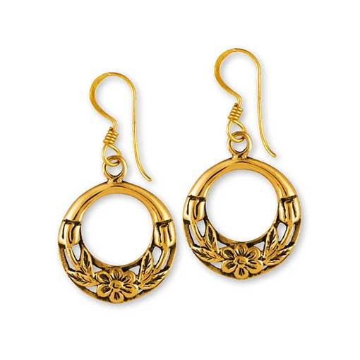 Gypsy Gold Filigree Earrings