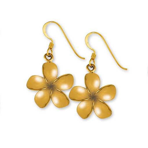 Gypsy Gold Frangipani Earrings