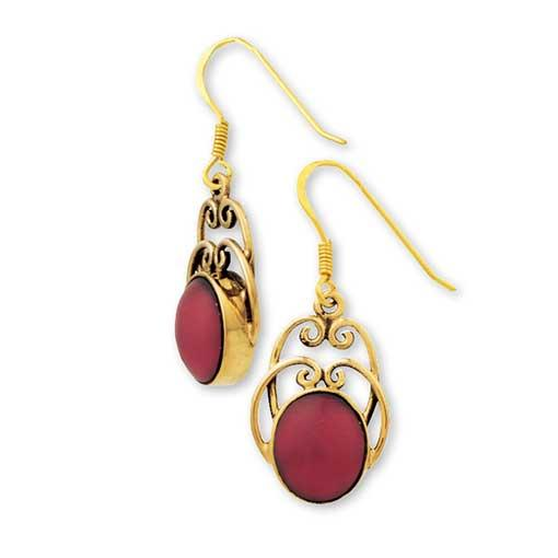 Gypsy Gold Earrings with Stones