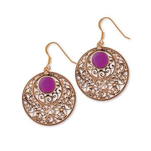 Gypsy Gold Earrings with Stones Online - Elanora Australia