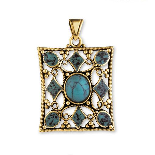 Gypsy Gold Pendant with Stones