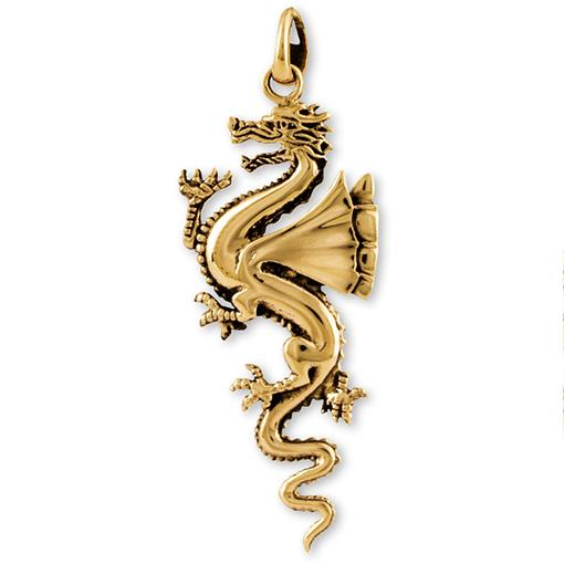 Gypsy Bronze Dragon Pendant