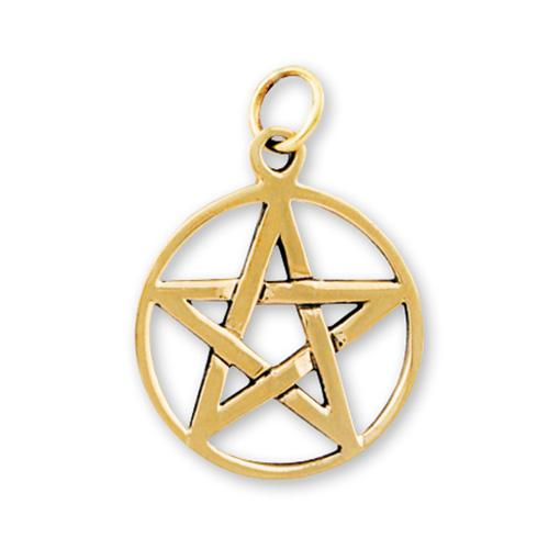 Gypsy Gold Pentagram Pendant