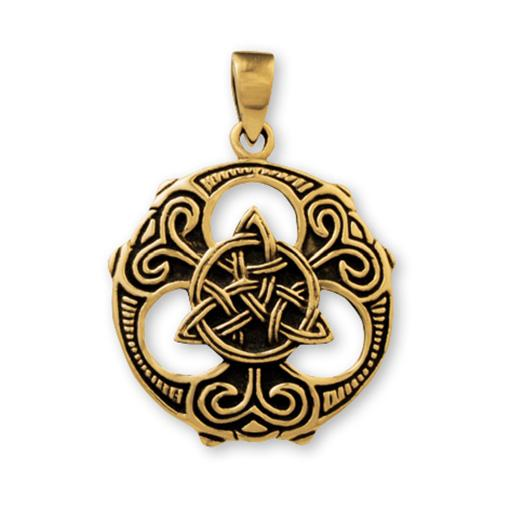 Gypsy Gold Celtic Pendant