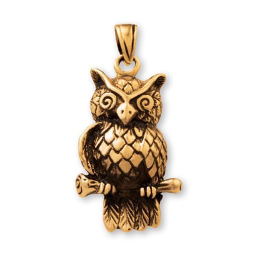 Gypsy Gold Owl Pendant
