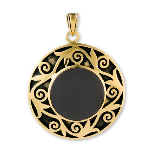 Gypsy Gold Pendant with Stone