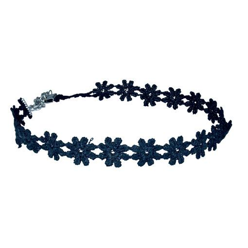 Black Flower Choker -  10 pack