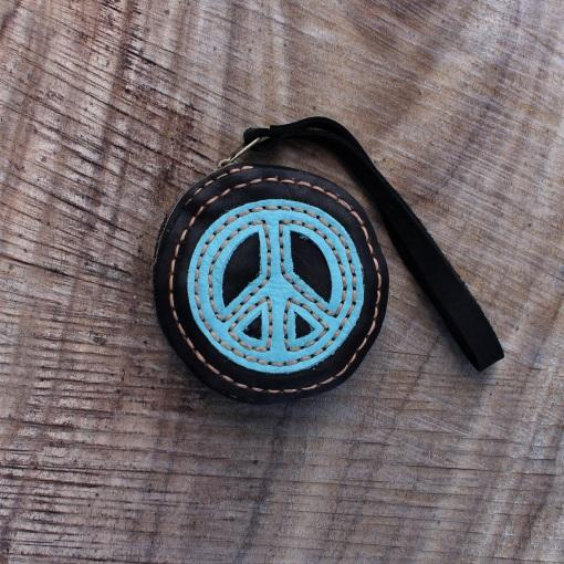Leather Peace Purse