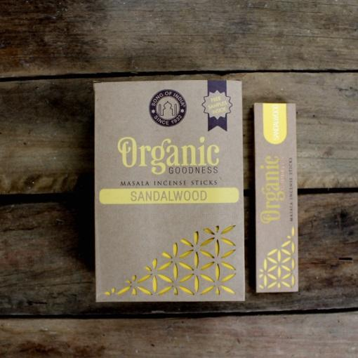Organic Sandalwood Incense 12 x 15 Gram