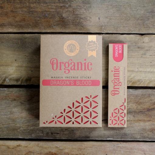 Organic Dragons Blood Incense 12 x 15 Gram