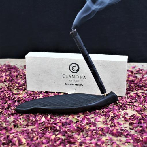 Ceramic Leaf Incense Holder - Lokta Paper Box