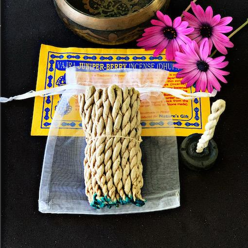 Vajra Juniper-Berry Rope Incense- Gift Pack