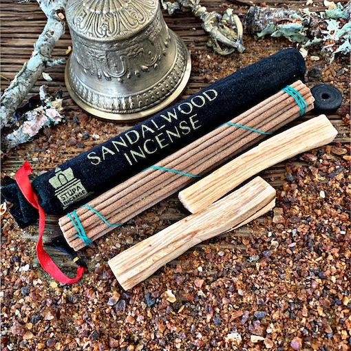 Sandalwood Incense- Velvet Pouch