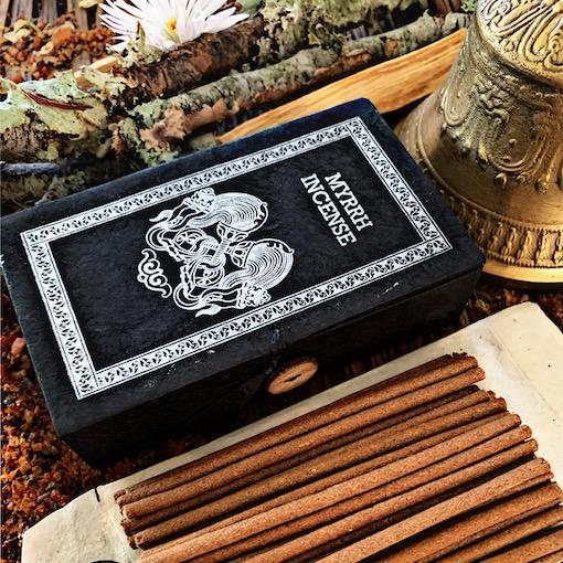 Myrrh Incense- Lokta Paper Box