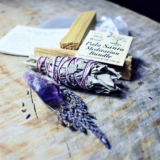 Palo Santo Meditation Bundle w Amethyst Point