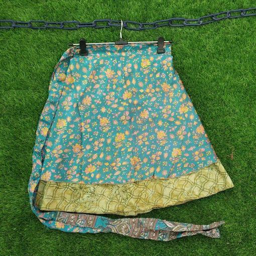 Gypsy Wrap Skirt- Reversible- Short