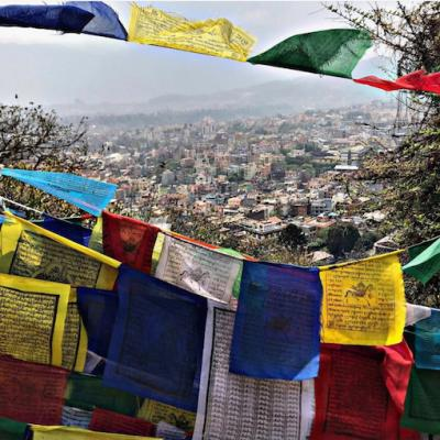 Tibetan Prayer Flags 15cm x 15cm (5 Pack)