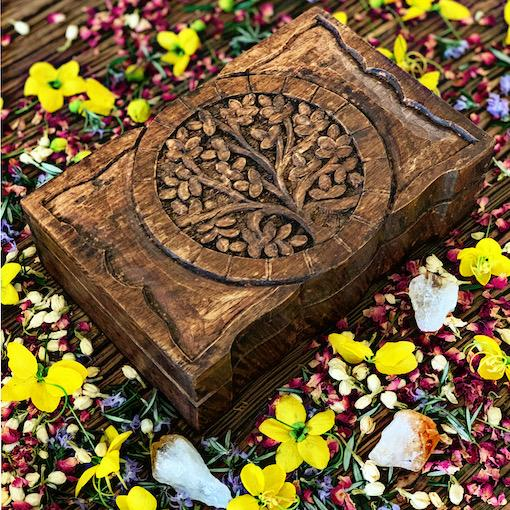 Tree of Life- Wooden Ritual Box