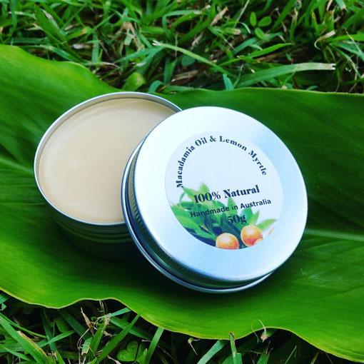 Macadamia Oil & Lemon Myrtle Balm 50gr Nett 4 Pack