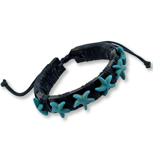Leather Starfish Bracelet 5 pack