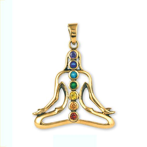 Gypsy Gold 7 Chakras Girl Pendant