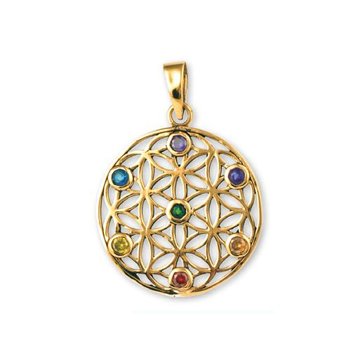 7 Chakra Flower of Life Pendant