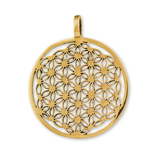 Flower of Life Gypsy Gold Pendant