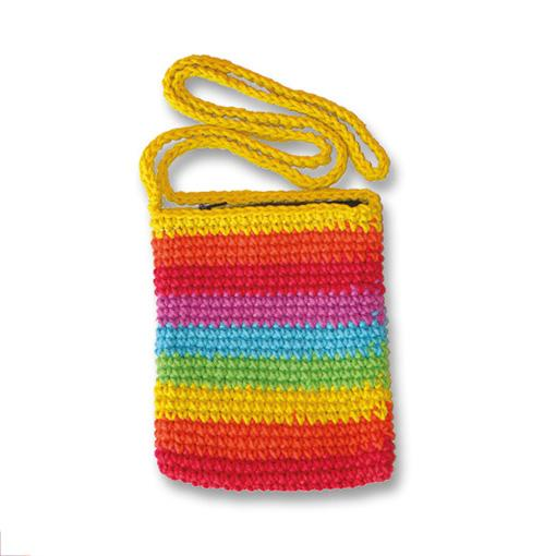 Rainbow Passport Bag With Zipper