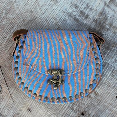 Blue Cork Bag