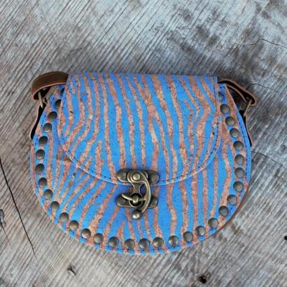 Blue Cork Bag
