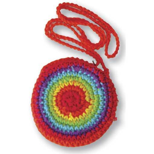 Round Rainbow Neck Pouch 5pk