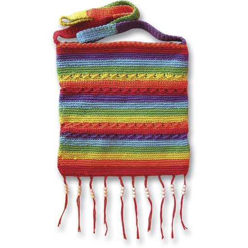 Beaded Rainbow Shoulder Bag