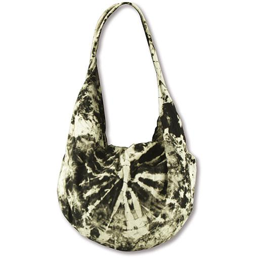Tie Dyed Moon Bag - Split Strap- Black & White