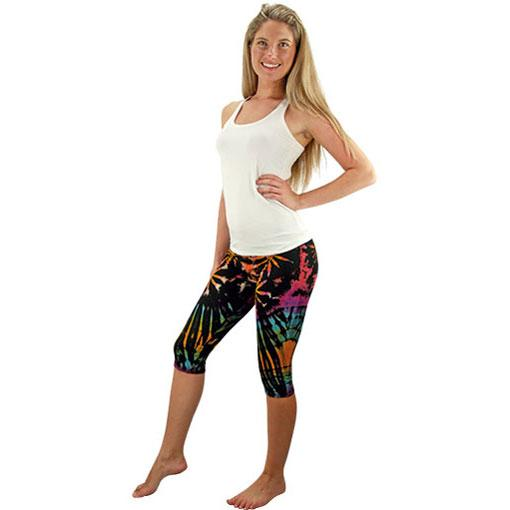 Tie Dyed Tights - 3/4 Length