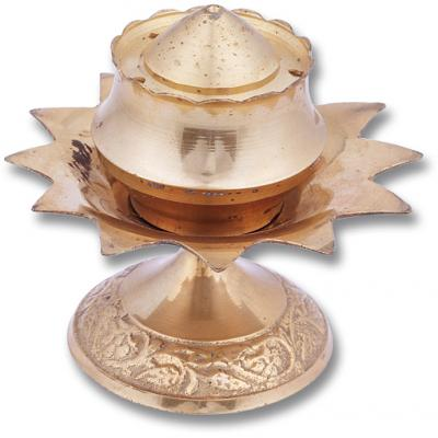 Brass Incense Holder Lotus Design (2 pack)