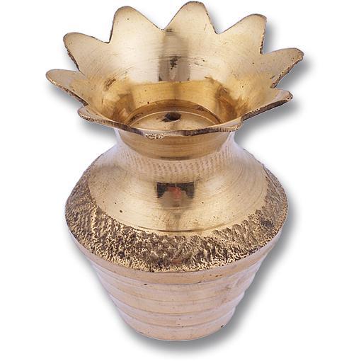 Flower Pot Style Brass Incense Holder (2 pack)
