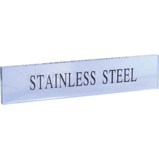 Stainless Steel Perspex Sign