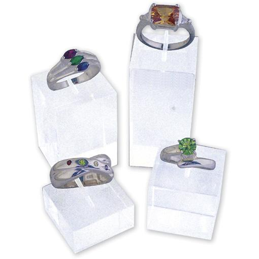 Clear Ring Displays(Set of 4)
